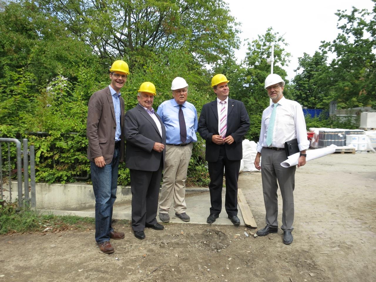 Baustellenbesuch im Hallenbad Neu-Isenburg